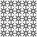 Vector Black and white abstract octagon and clover leaves seamless pattern or illustration
