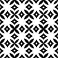 Vector Black White Design Geometric seamless.