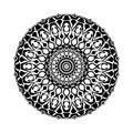 Vector black and white geometrical mandala design or pattern.