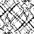 Vector Black and white ink seamless pattern