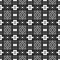 Black and white simple star shape geometric seamless pattern, vector Black and white simple star shape geometric seamless pattern,