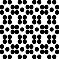 Vector BLACK WHITE PATTERN DOTS Royalty Free Stock Photo