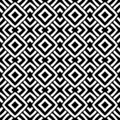 Vector Black and white repeatable rhombus design creating and unique pattern.