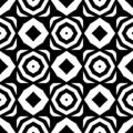 Vector black and white seamless octagon and rhombus pattern,simple abstract design.