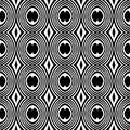 Vector Black and White seamless pattern design