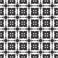 Vector Black and white seamless pattern, repeatable
