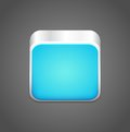 Vector blank blue app icon this is file of eps format Stock Photography
