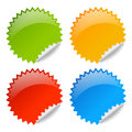 Vector blank glossy labels Stock Photo