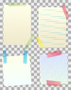Vector blank paper notes