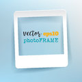Vector Blank Photo Frame with empty space for your image. Royalty Free Stock Photo