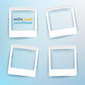 Vector Blank Photo Frames with empty space for your image. Royalty Free Stock Photo