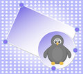 Vector Blank template for Christmas greetings card Royalty Free Stock Photo