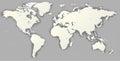 Vector Blank torn silhouette World map Monochrome Worldmap templ