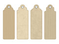 Vector Blank Vintage Cardboard Tags Royalty Free Stock Photo