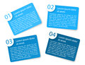 Vector blue angular paper option labels set of with number of Royalty Free Stock Photo