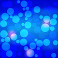 Vector blue bokeh background