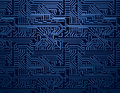 Vector blue circuit board background dark computer Stock Images