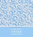 Vektor modrý  trojrozmerný starodávny pozvánka vír vzor