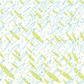 Vector blue and green hand drawn doodle school of fish seamless pattern
