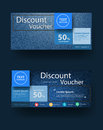 Vector blue jeans texture background with discount voucher layout Royalty Free Stock Photo