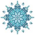Vector blue mandala