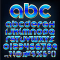 Vector blue metallic font abstract illustration of a Royalty Free Stock Photography