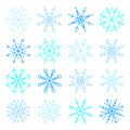 Vector blue snowflake icon set. Collection Snowflakes icons Royalty Free Stock Photo