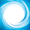 Vector blue swirling backdrop with space for text wonderful beautiful volute fluid surface vivid turquoise color glowing white Royalty Free Stock Photos