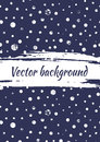 Vector blue and white dotted drawn background with dots Royalty Free Stock Photo