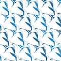 Vector Blue White Swallows Birds Geometric Royalty Free Stock Photo