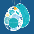 Vector blue and yellow flowersilhouettes Easter Royalty Free Stock Photo