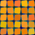 Vector Blue Yellow Orange Color Shades Seamless Rounded Stained Glass Squares Grid Pattern Royalty Free Stock Photo