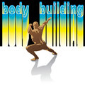 Vector bodybuilding silhouettes promotional image of competitions as well as the poster or logo Royalty Free Stock Image