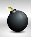 Vector bomb illustration on white background Royalty Free Stock Image