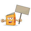 Vector book banner mascot illustration funny Stock Image