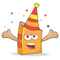 Vector book celebrate mascot illustration funny Stock Photo