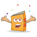 Vector book celebrate mascot illustration funny Royalty Free Stock Photo