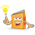 Vector book idea mascot illustration funny Stock Photography