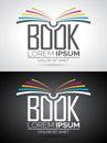 Vector Book Logo Illustration.