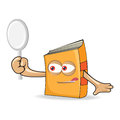 Vector book search mascot illustration funny Stock Images