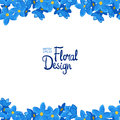 Vector border with forget-me-not flowers Royalty Free Stock Photo