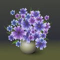 Vector bouquet of cornflower illustration Stock Photography