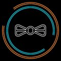 Vector bow ribbon icon - ribbon bow
