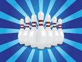 Vector bowling pins Royalty Free Stock Photo