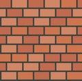 Vector brick wall tile seamless pattern