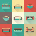 Vector bridge icon set this is file of eps format Royalty Free Stock Photography