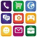 Vector bright app icons Stock Image