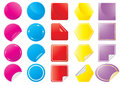 Vector-bright-stickers Stock Images