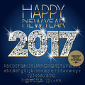 Vector brilliant Happy New Year 2017 greeting card