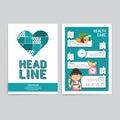 Vector brochure, flyer, magazine cover booklet poster design tem